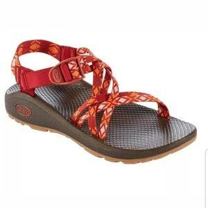 EUC Chaco Z/Cloud X Red & Orange Women's Sandals